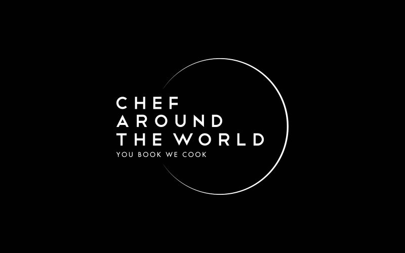 Chef Around The World - Logo design, visual identity and website design for an international booking agency