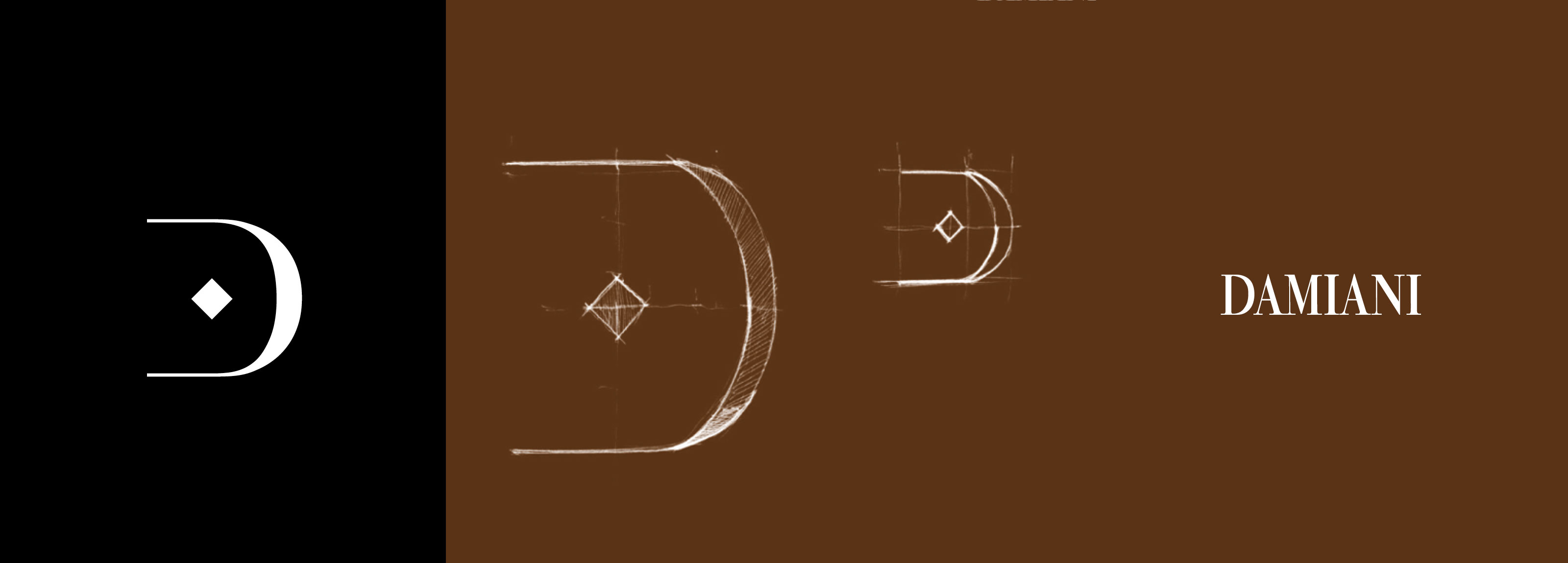 Project of a new logo for the renowned Italian jeweler Damiani realized by Hangar Design Group