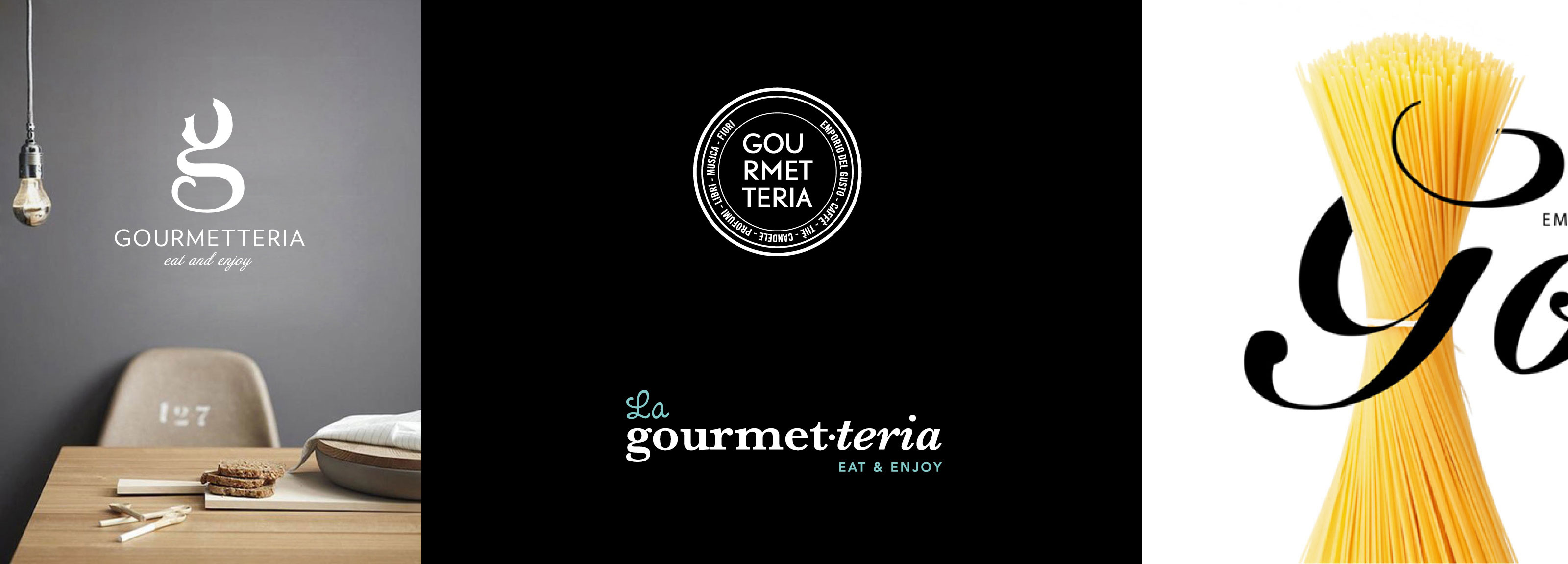 Hangar Design Group designed the new logo and the whole corporate identity project for Gourmetteria