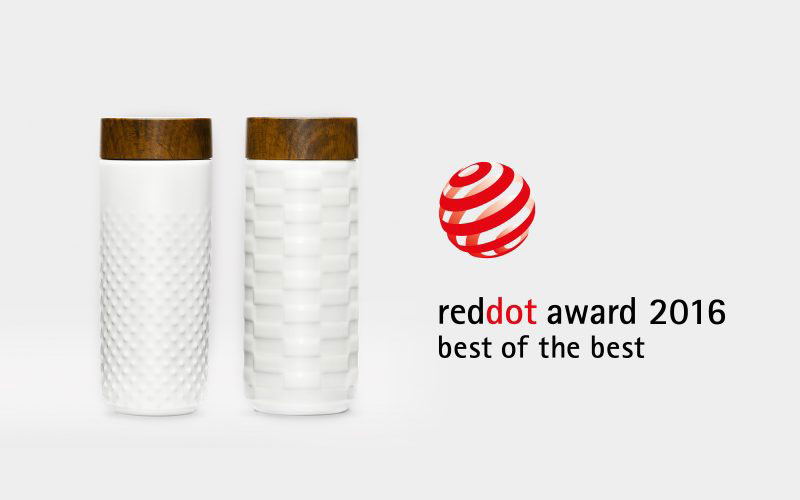 Insieme ad Acera, Hangar Design Group vince il Red Dot Design Award con la sua travel mug One-O-One.