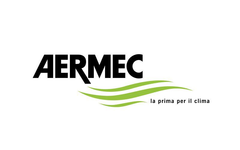 Advertising and communications tools organized by Hangar Design Group for a new product line by Aermec