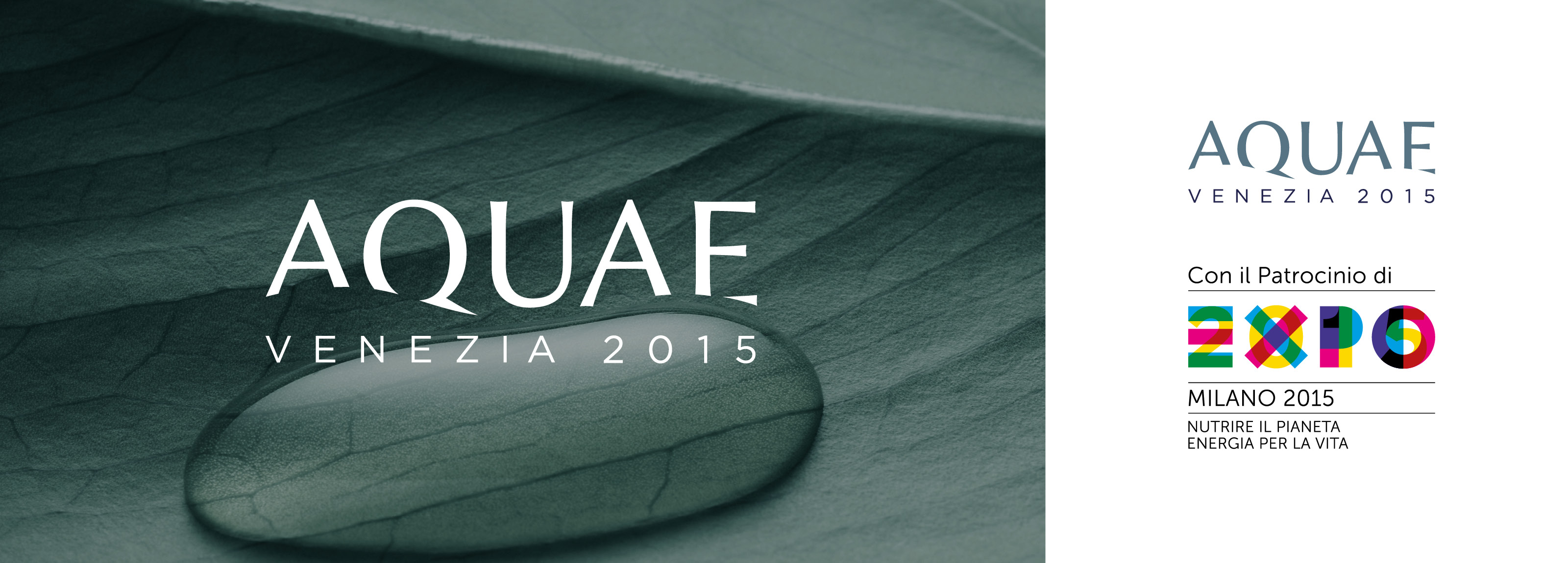 Brand identity and visual design of Hangar Design group for Aquae 2015.