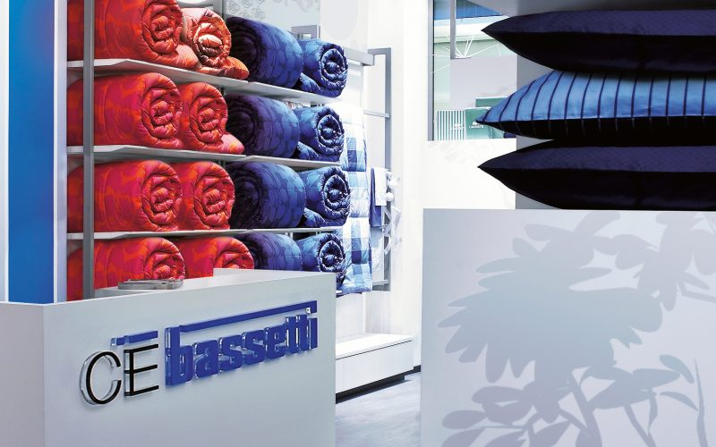A retail project signed by Hangar Design Group for Bassetti, historic Italian brand in the textile industry.