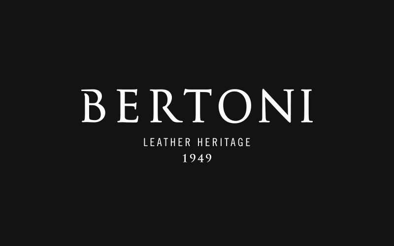 Bertoni 1949 - An elegant rebranding project for a leader in the Italian leather manufacturing.