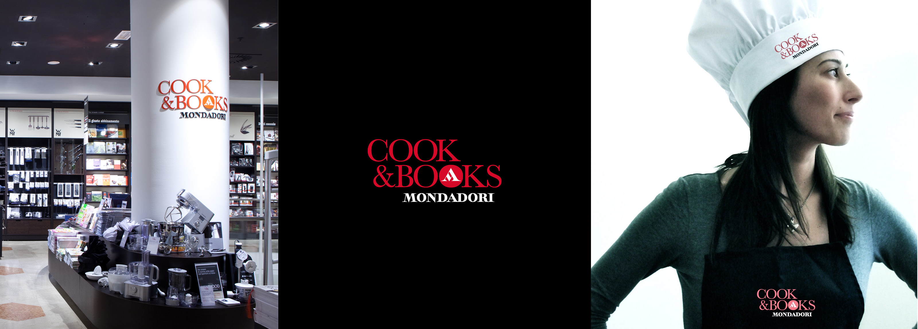 A refreshing identity and concept store in for Mondadori Cook & Books signed by Hangar Design Group