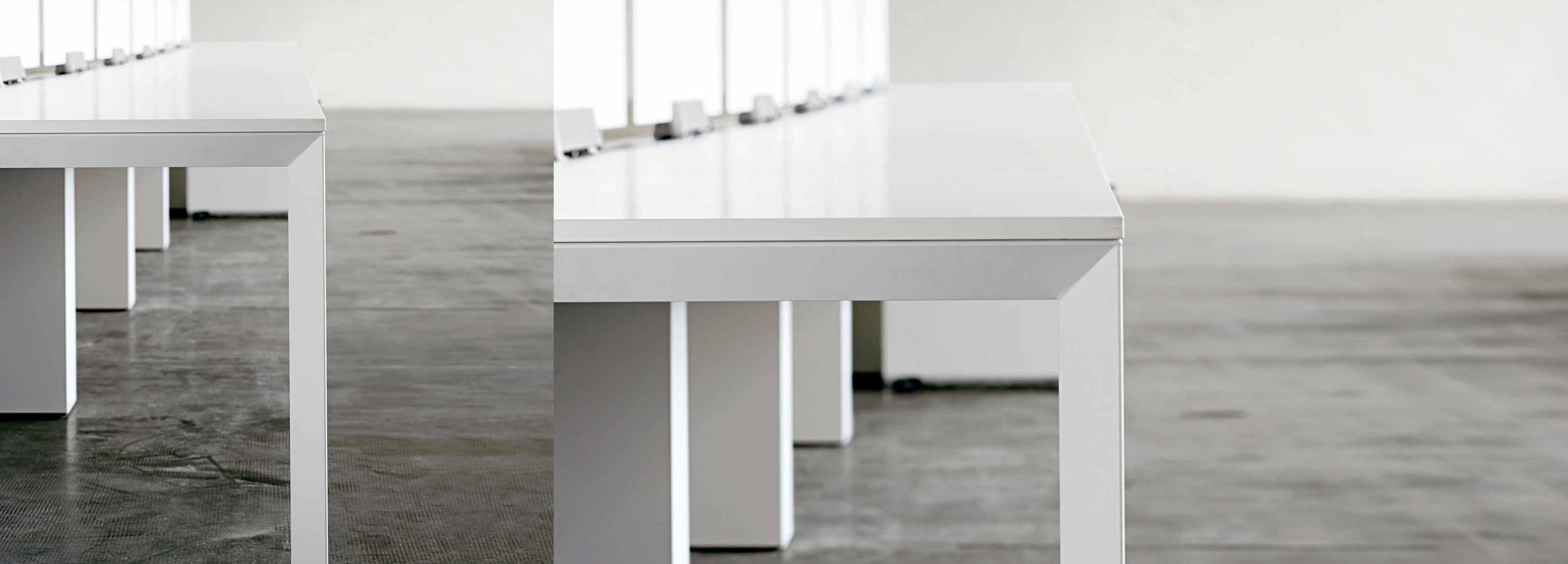 An office table designed of Hangar Design Group with an elegant and minimal design.