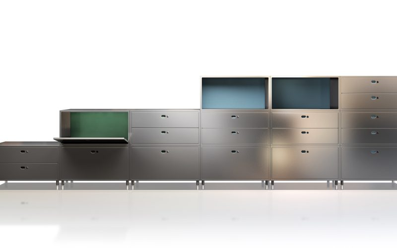 Dieffebi - Office design renews itself with a new multifunctional and modular system of containers.