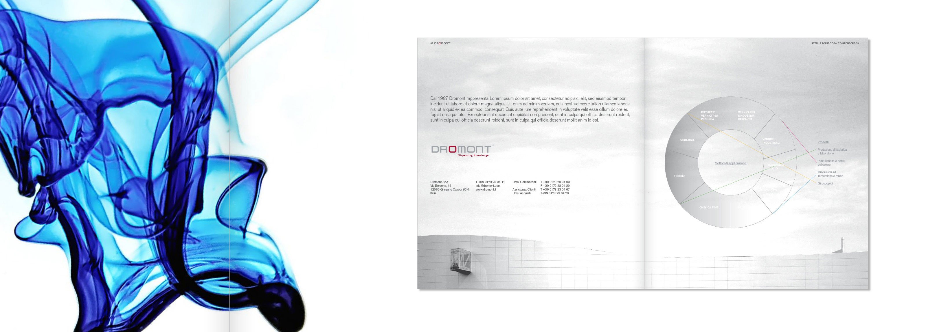 Graphic concept signed by Hangar Design Group for leading company in the industry of dispensing technologies
