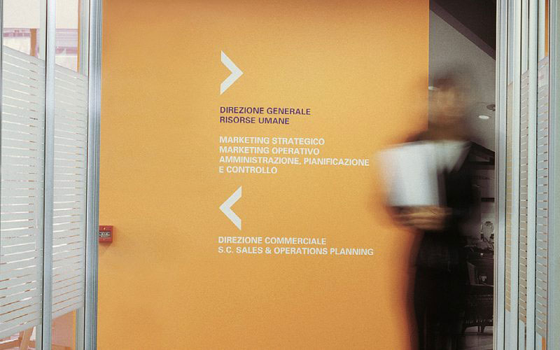 Signage design for the headquarters of the department store signed by Hangar Design Group