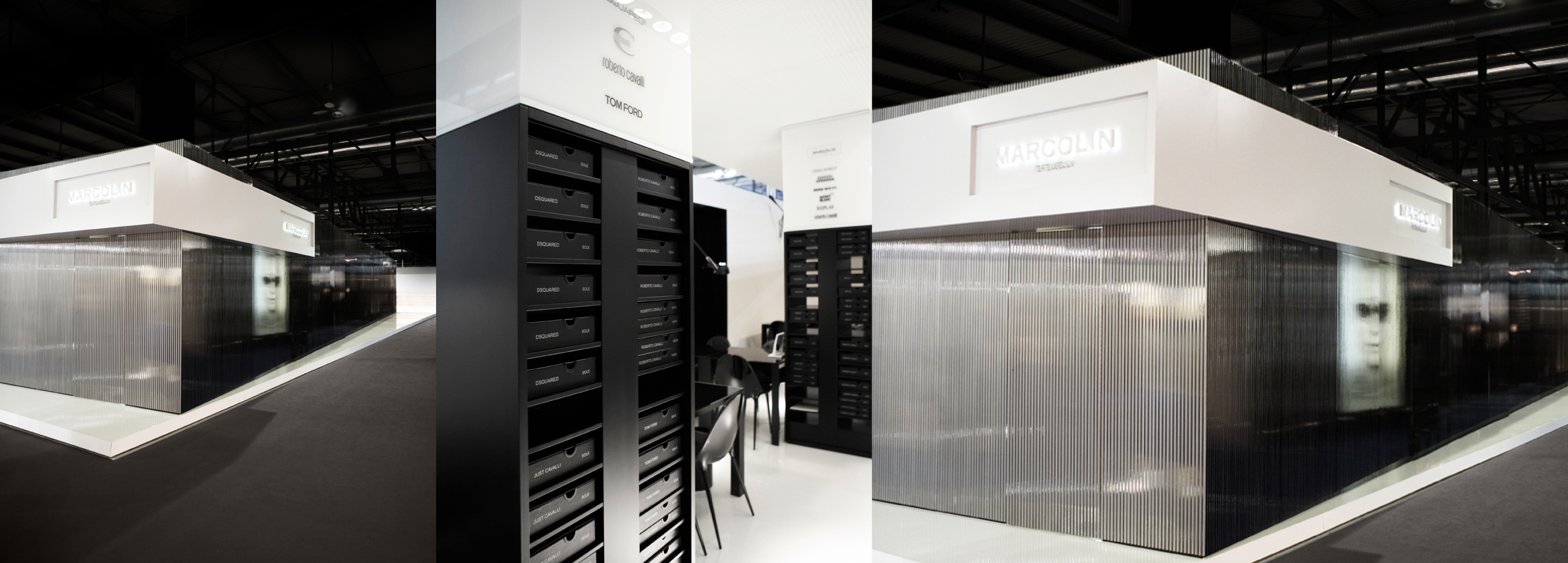 Marcolin - Booth design project which emphasize the values of the brand.