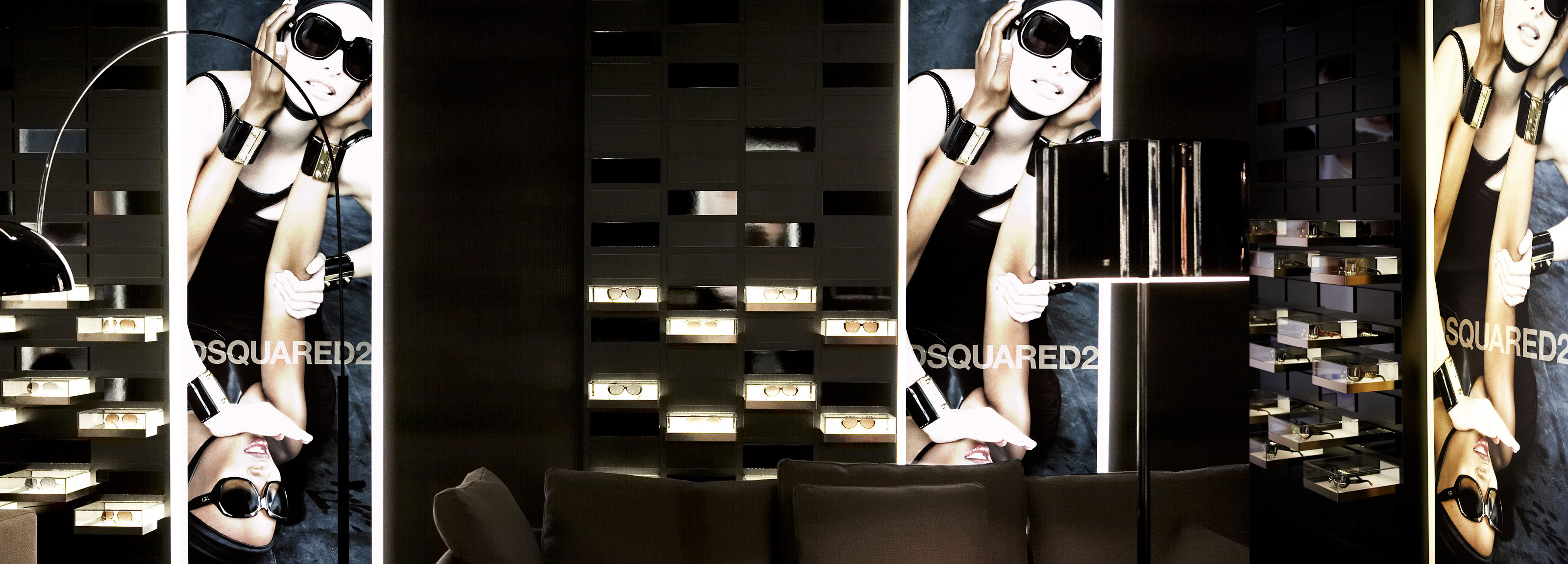Marcolin - A luxurious showroom in the center of Milan for one the leading high-end manufacturers of eyewear.