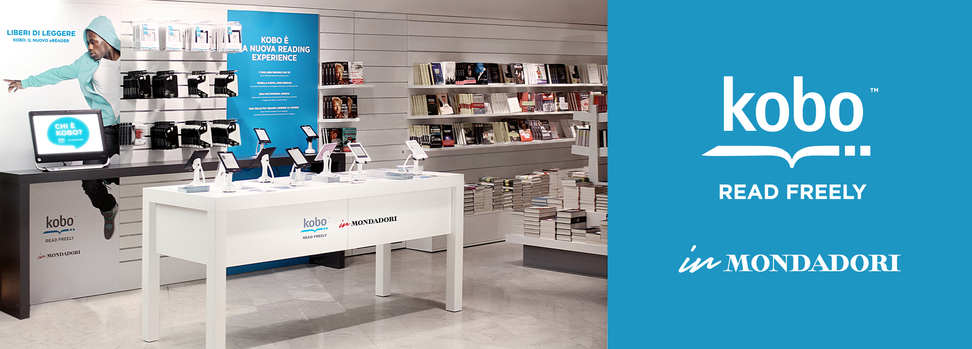 Retail and exhibition design by Hangar Design Group for Kobo e-reader.