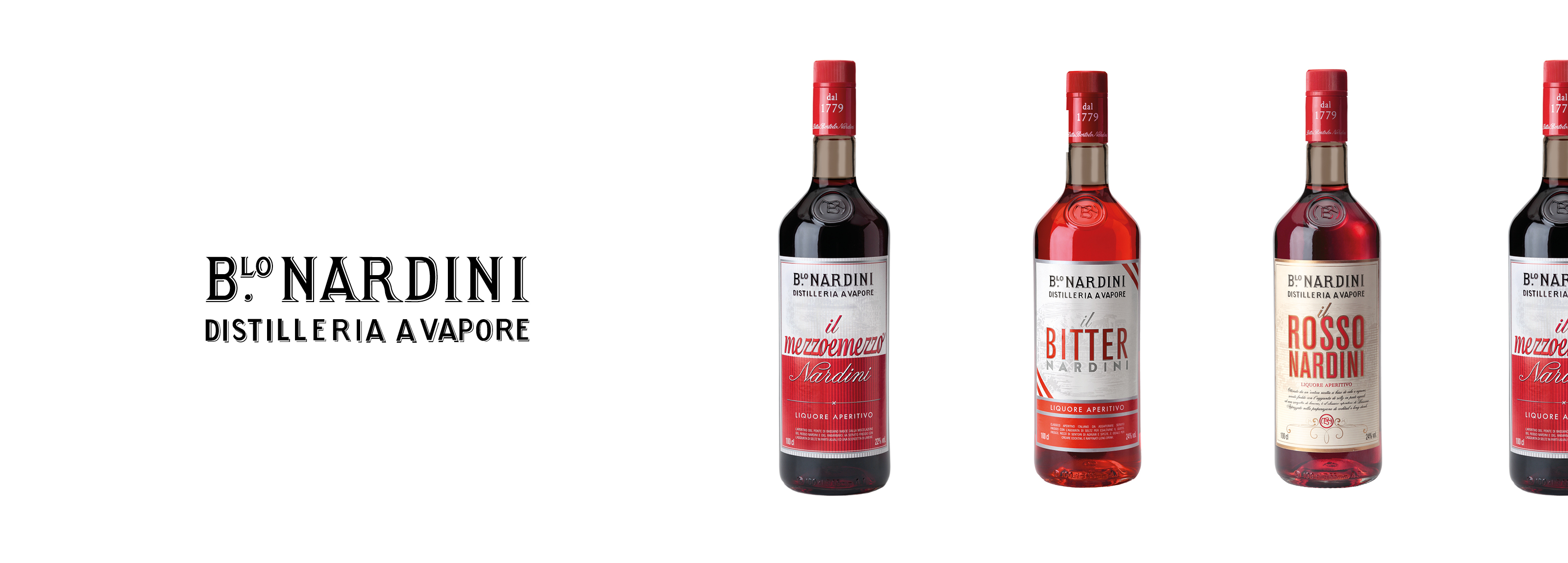 Packaging design targate Hangar Design Group per le 3 etichette di aperitivi Nardini.