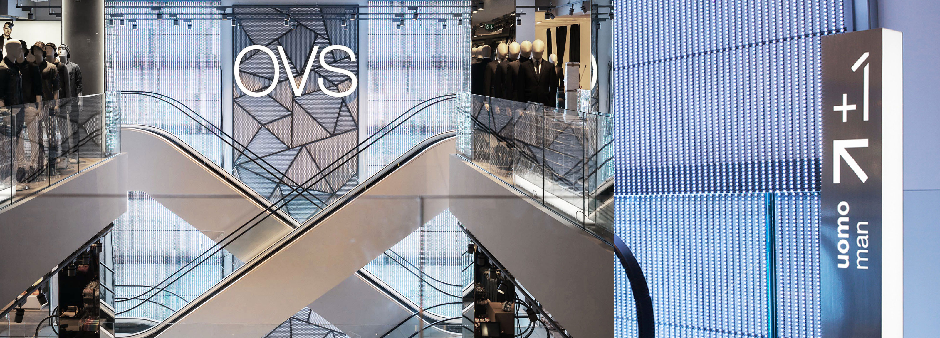 OVS - OVS<br> Wayfinding system for Milan Store