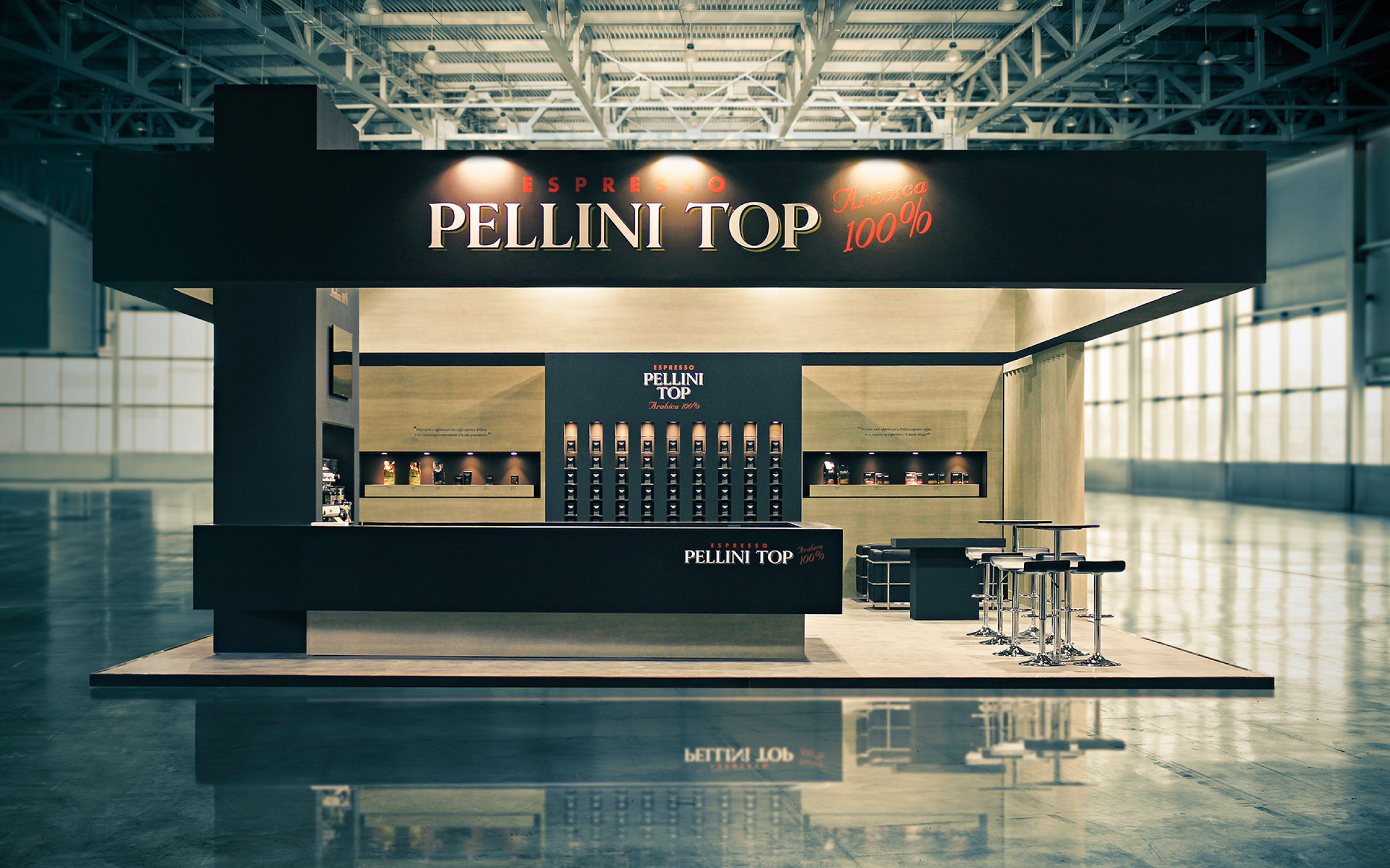 Food Exhibition Stand Design : Pellini caffè host hangar design group