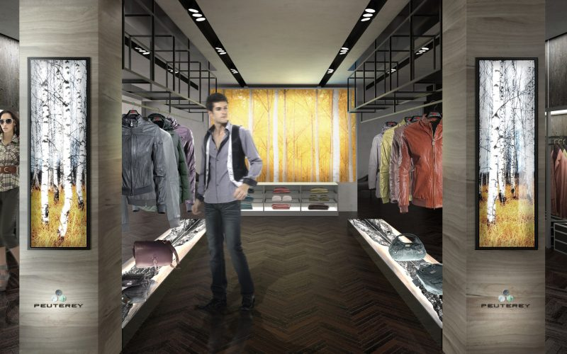 Retail project of Hangar Design Group for the Italian brand Peuterey.