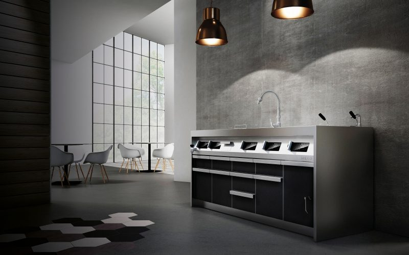 Designed of Hangar Design Group for Silko, a brand of Ali Group, Silko Evolution is an innovative professional kitchen concept.
