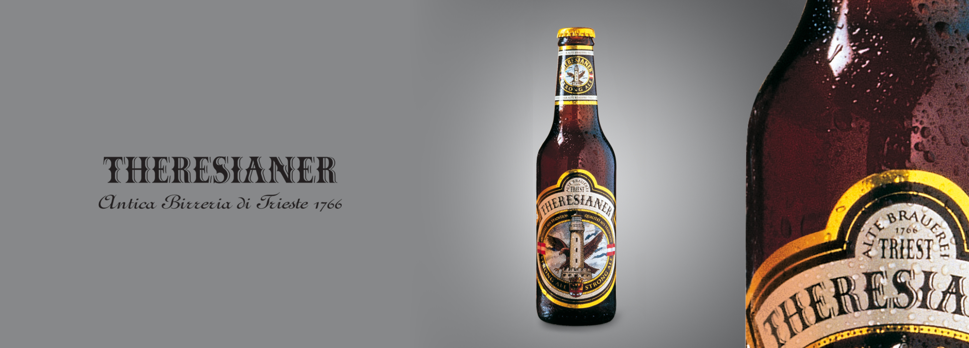 Packaging design project signed by Hangar Design Group for the historical Italian beer Theresianer.
