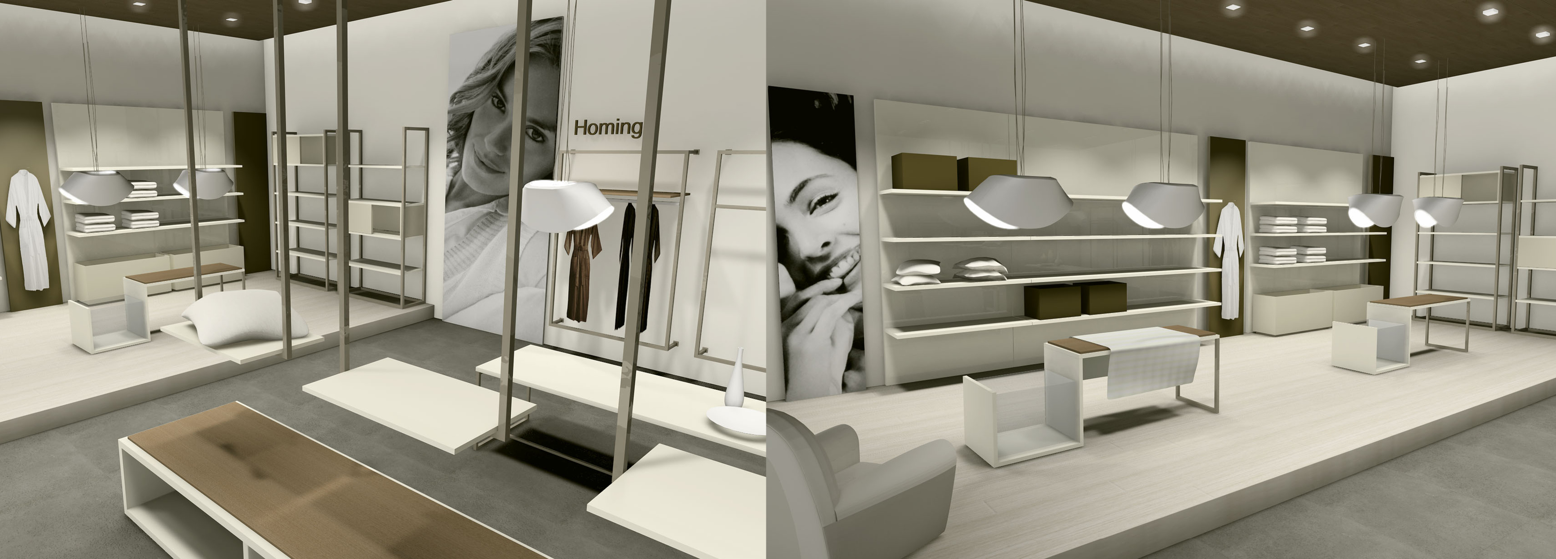 A store designed of Hangar Design Group for the Italian brand leader in the home textiles.