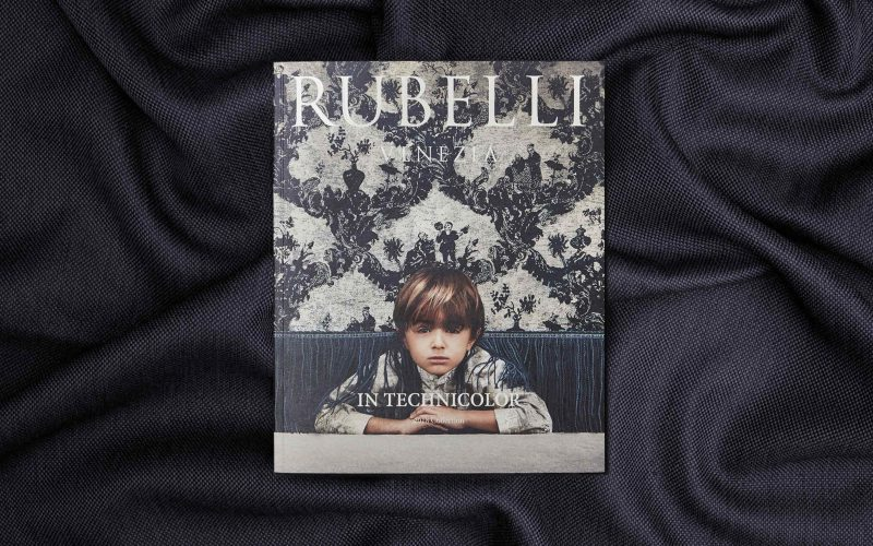 The cover of the magazine designed by Hangar Design Group for Rubelli