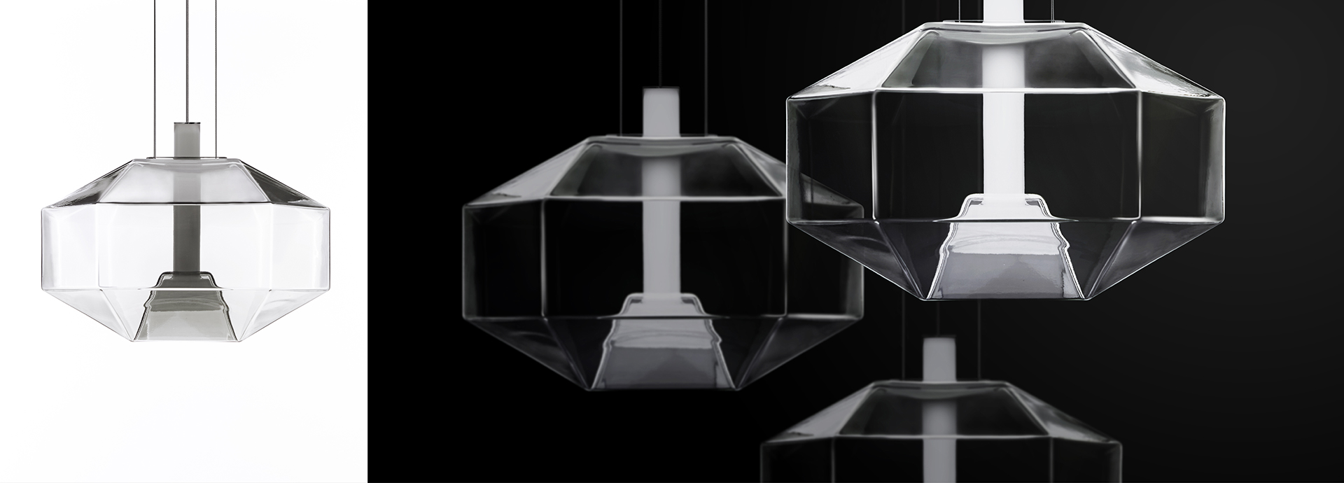 Stone is a pendant lamp, designed by Hangar Design Group for Vistosi