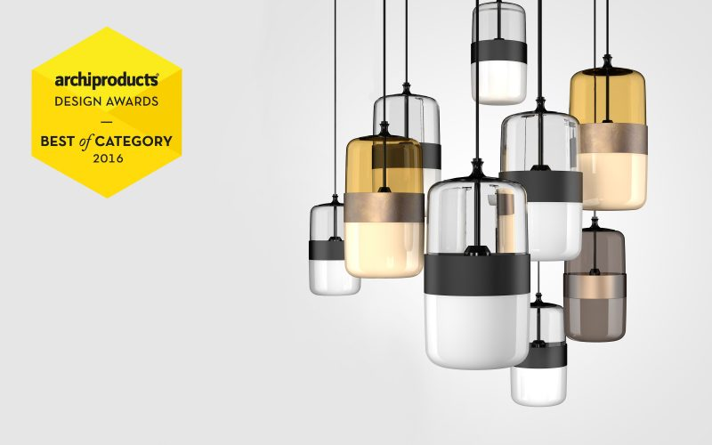 Futura pendant lamp, designed of Hangar Design Group, has earned the highest recognition in the Lighting category.