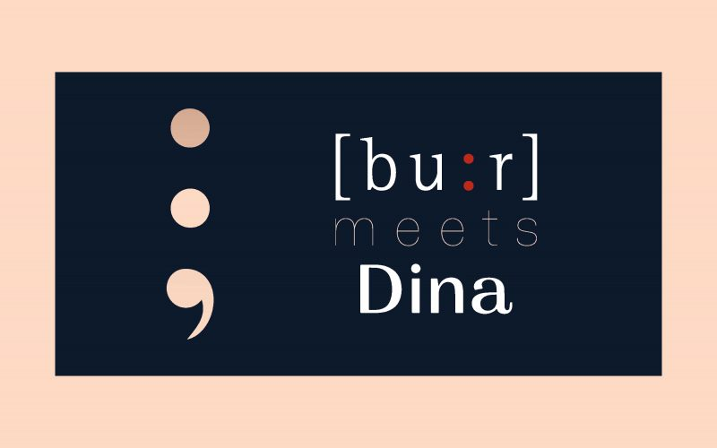 The graphic project by Hangar Design Group for Bu:r meets Dina