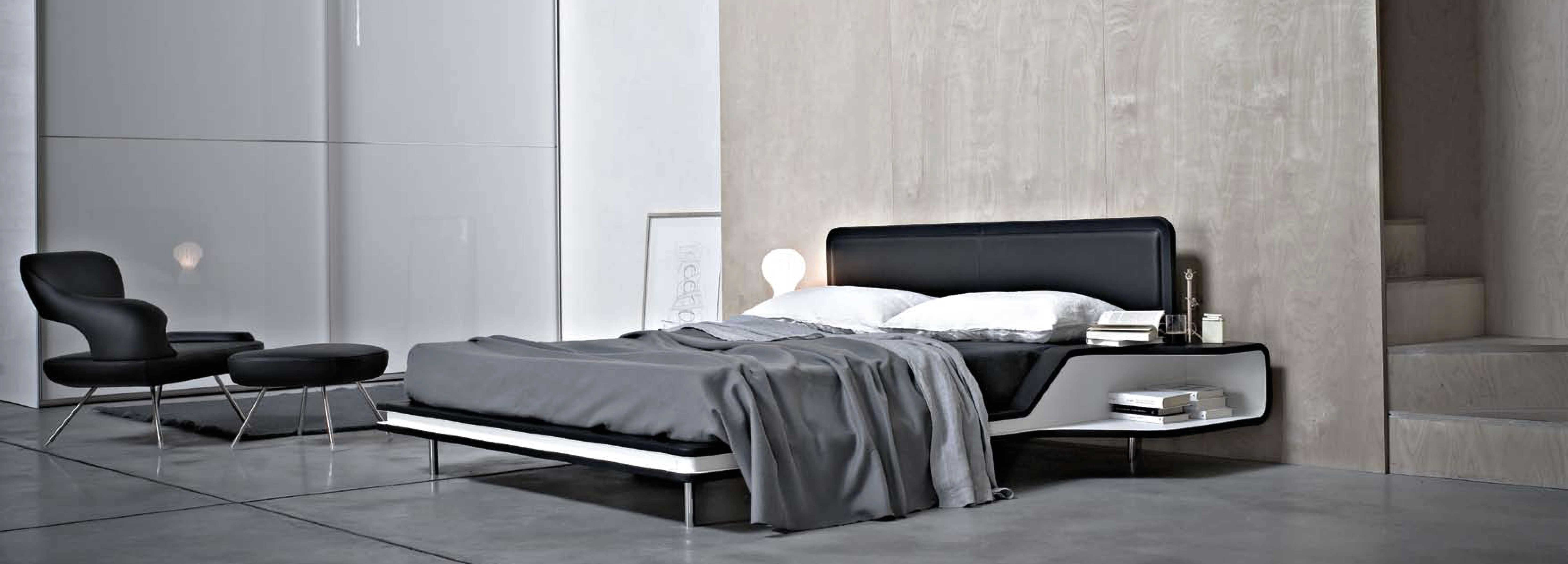 The bedroom of the minimal private house decorated by Hangar Design Group