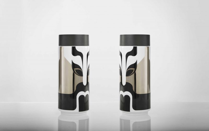 Traditional Chinese graphics for the new collection of travel mugs by Acera