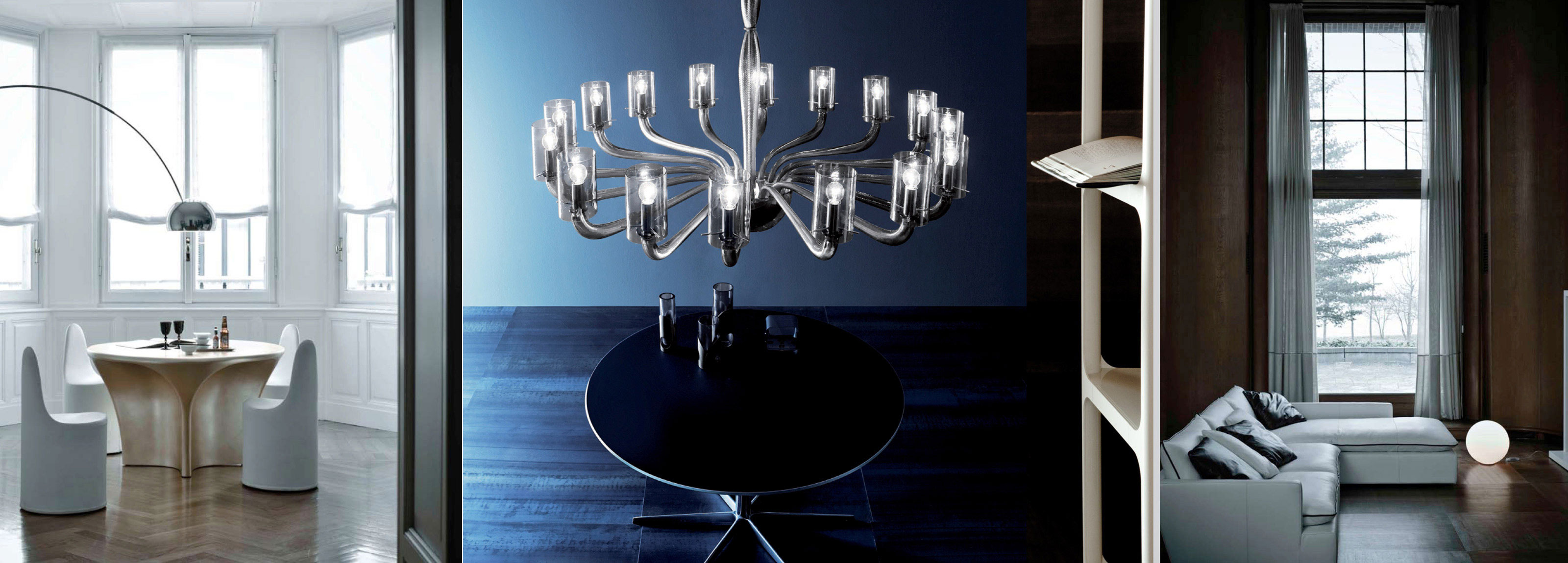 Hangar Design Group with its creativity reinterprets a Venetian chandelier