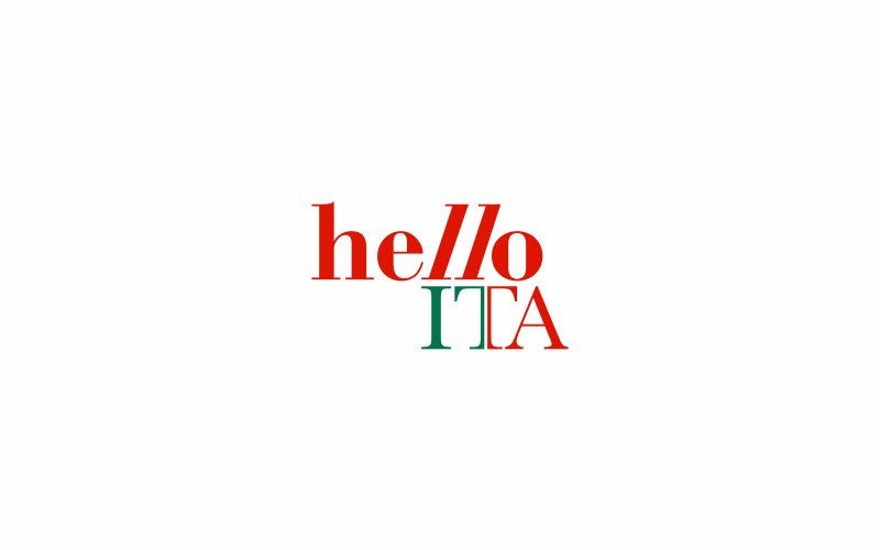 The new logo of HelloITA designed by Hangar Design Group