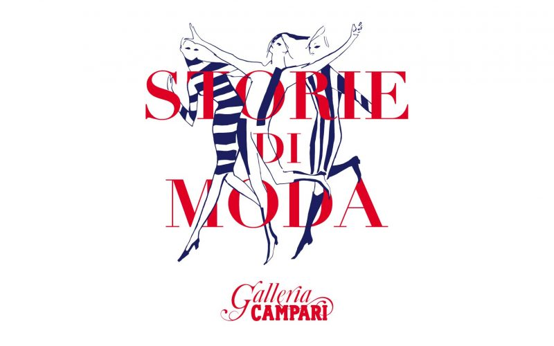 The logo of the exhibition Storie di Moda at Galleria Campari designed by Hangar Design Group