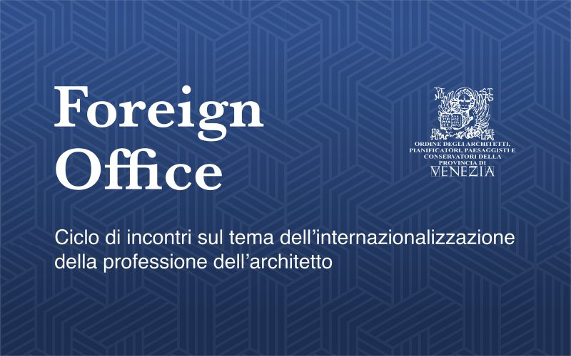 "Alberto Bovo a ""Foreign Office"""