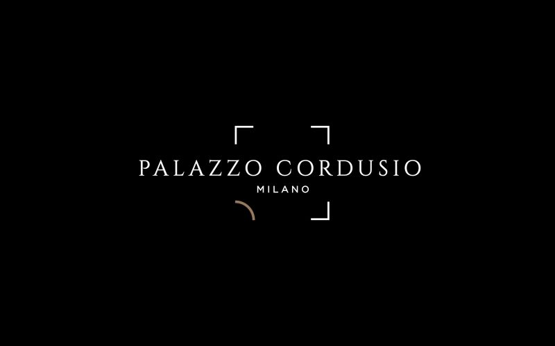 The logo of Palazzo Cordusio designed by Hangar Design Group