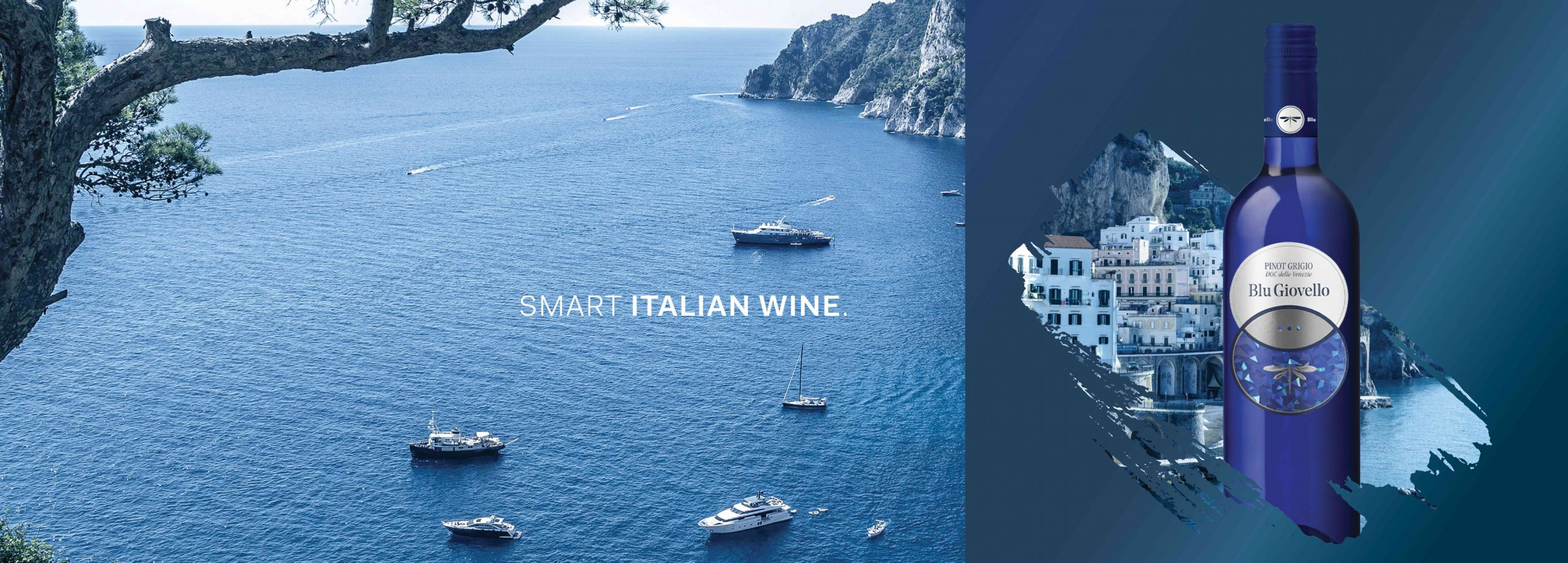 Blu Giovello - A new brand identity to tell the the wide horizons of the Italian sky and the taste of its wines.