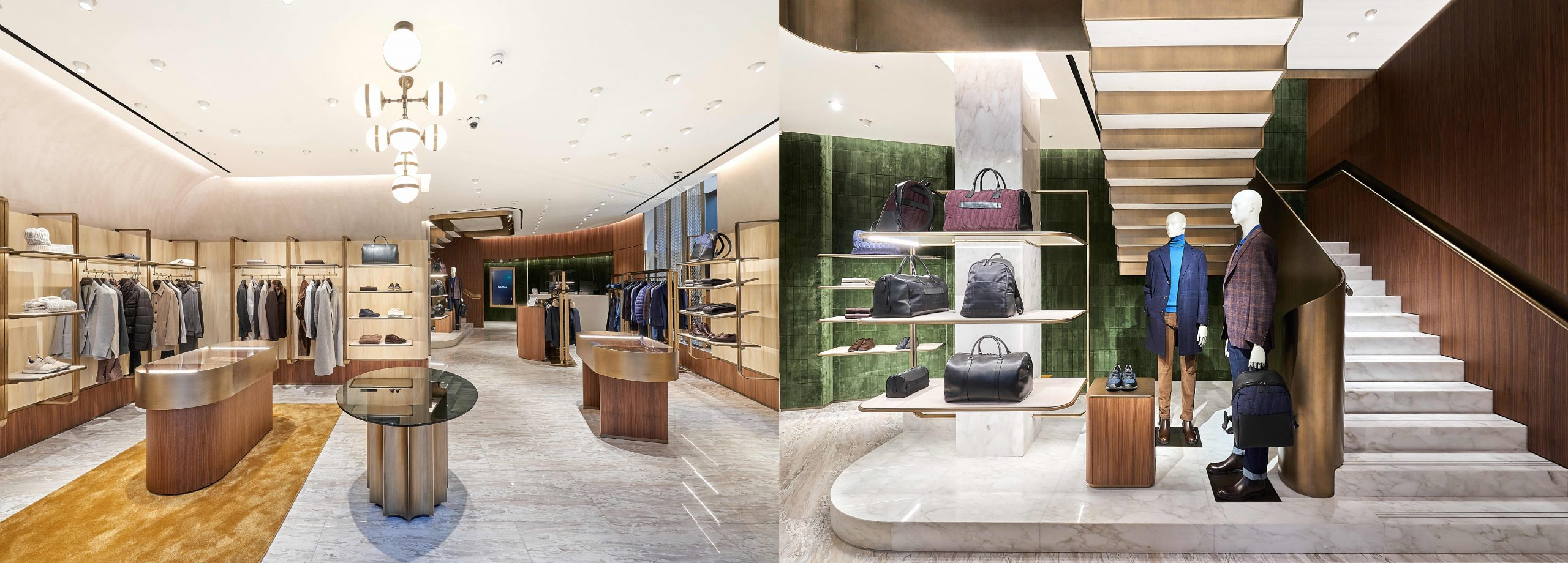 Canali 1934 - A retail project of the new single-brand boutique located in Mayfair, in the heart of London.