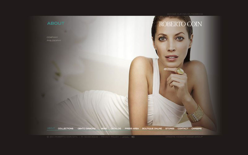 Roberto Coin - A new website design for high-end jewellery brand.